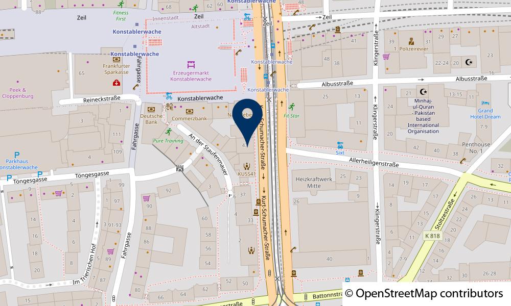 Karte Kurt-Schumacher-Straße