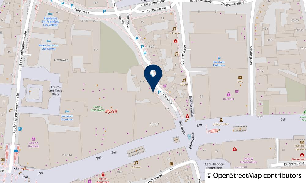 Karte Stiftstraße